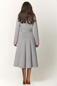 Женское длинное пальто с мехом песца арт.501